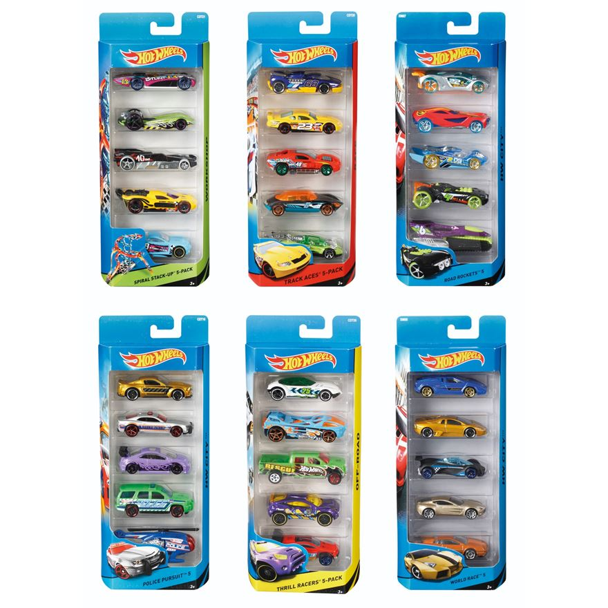 Hot Wheels 5-Car Pack Assortment image-0