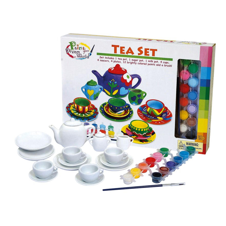 Paint Your Dream World Tea Set
