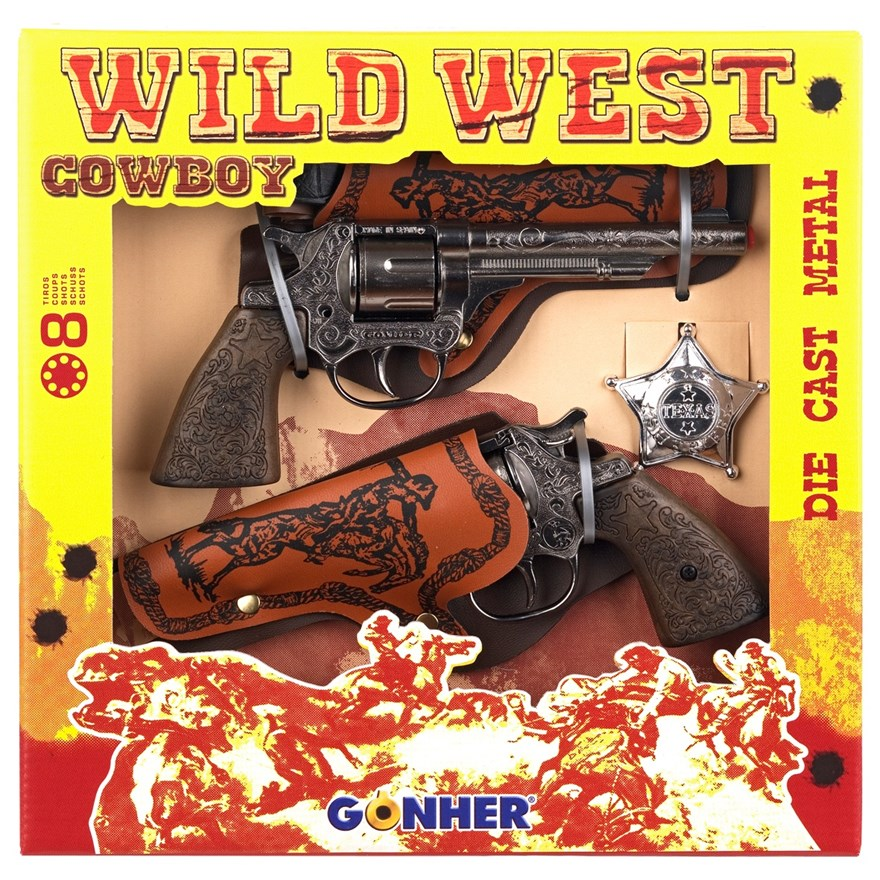 Gohner Wild West Cowboy Double Toy Gun Set