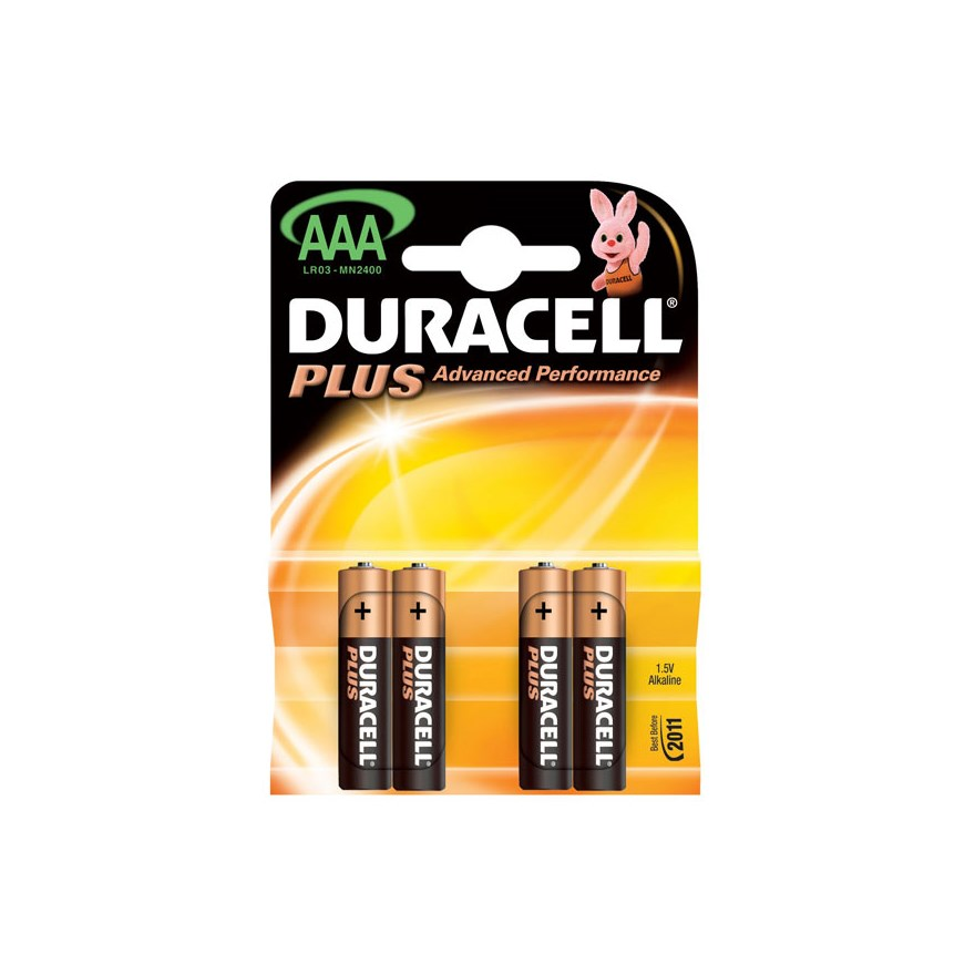 Duracell Plus Power AAA 4 Pack Batteries