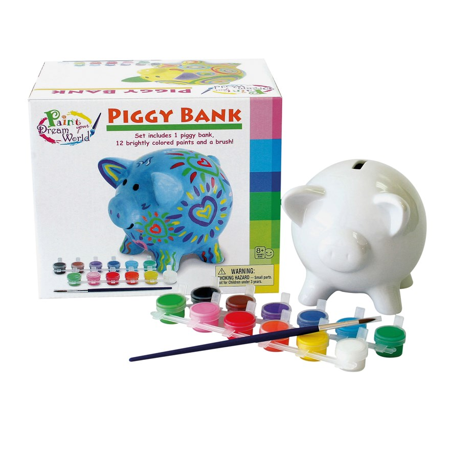 Paint Your Dream World Piggy Bank