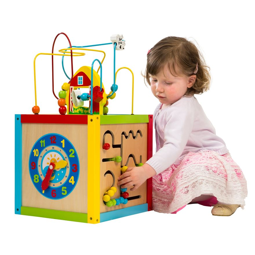 Wooden 5 in 1 Activity Cube image-0
