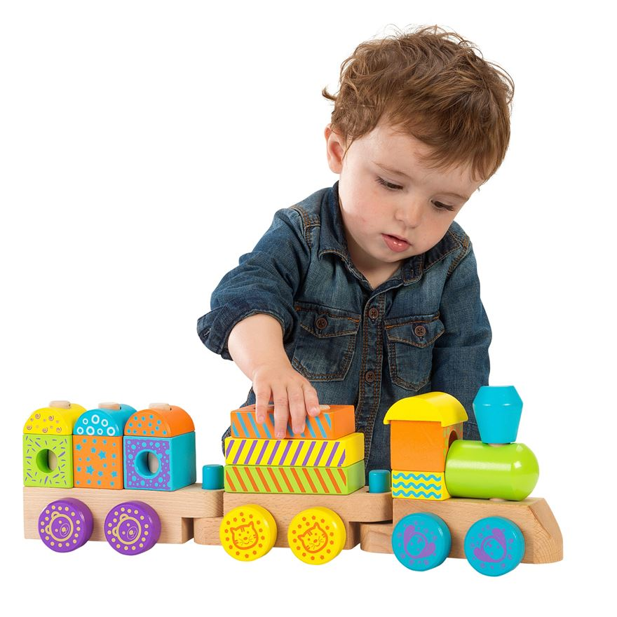 Wooden Stacking Train image-0