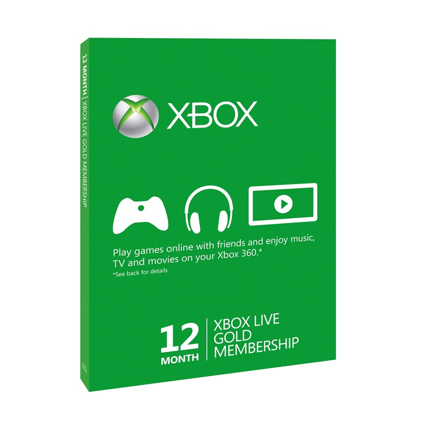 Xbox Live 12 Months Gold Membership Card image-0