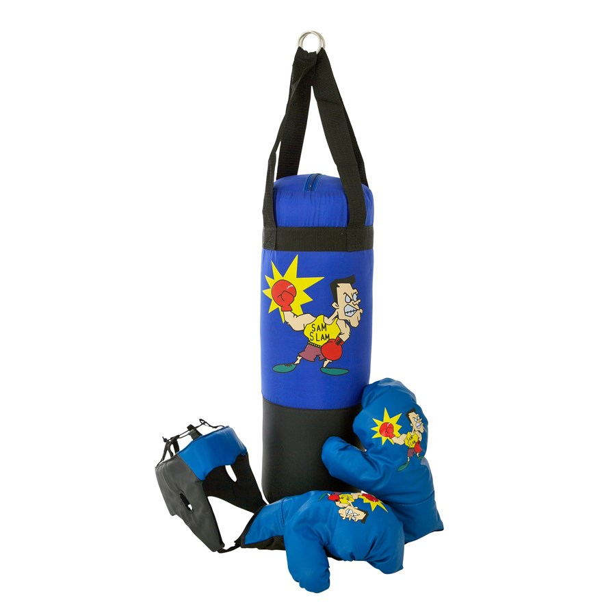 Punching Bag with Boxing Gloves and Headgear image-0