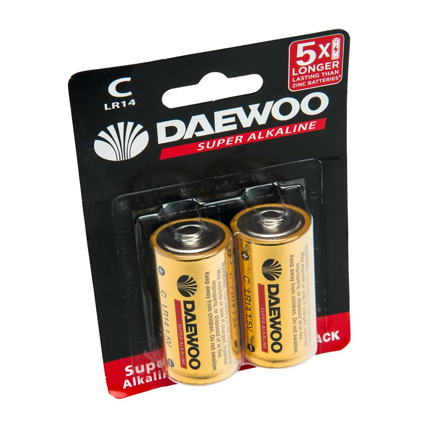 Daewoo C Size 2 Pack Batteries