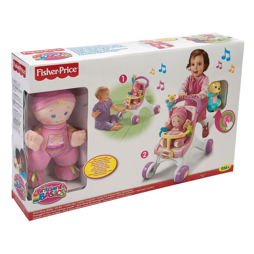 Fisher Price Stroll-Along Walker Gift Set image-1