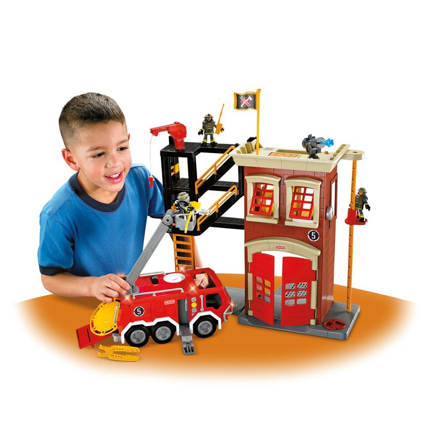 Fisher-Price Imaginext Firestation & Engine image-0