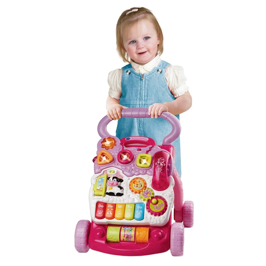 Vtech First Steps Baby Walker Pink image-0