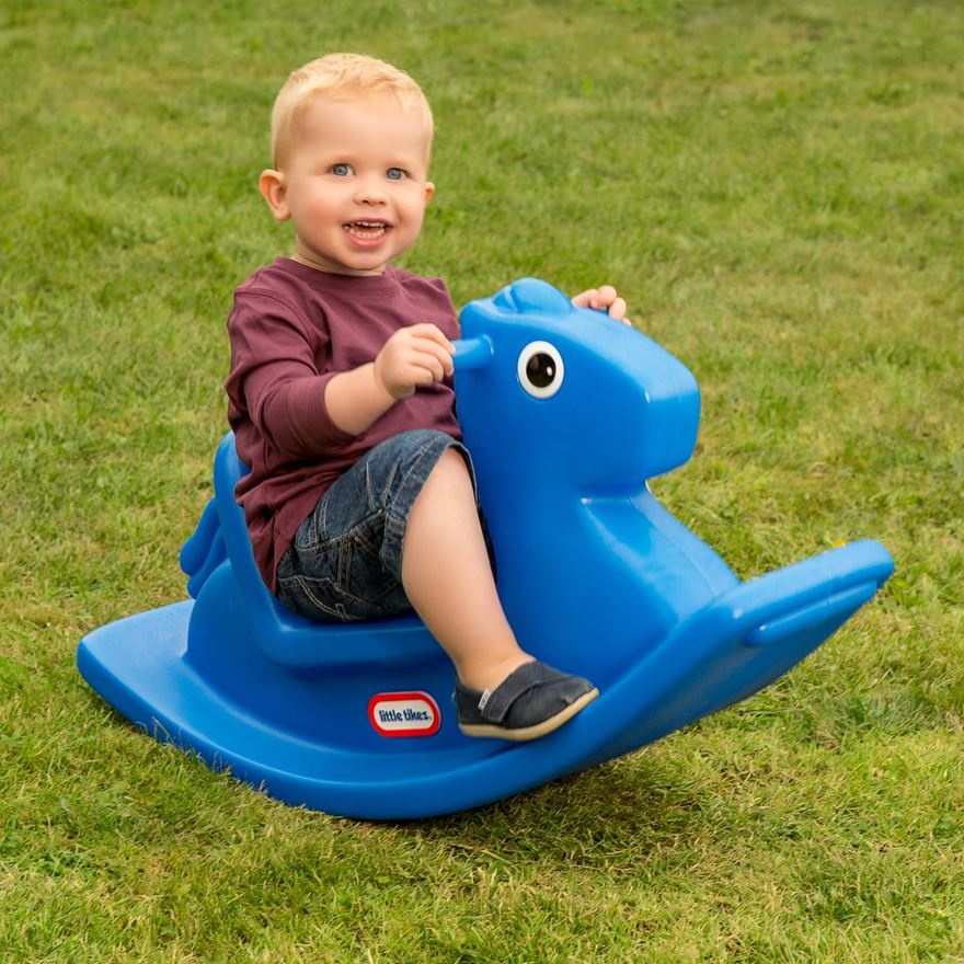 Little Tikes Rocking Horse Blue image-0