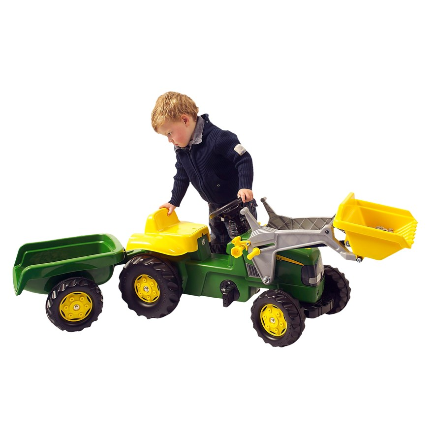 John Deere Tractor, Trailer and Loader