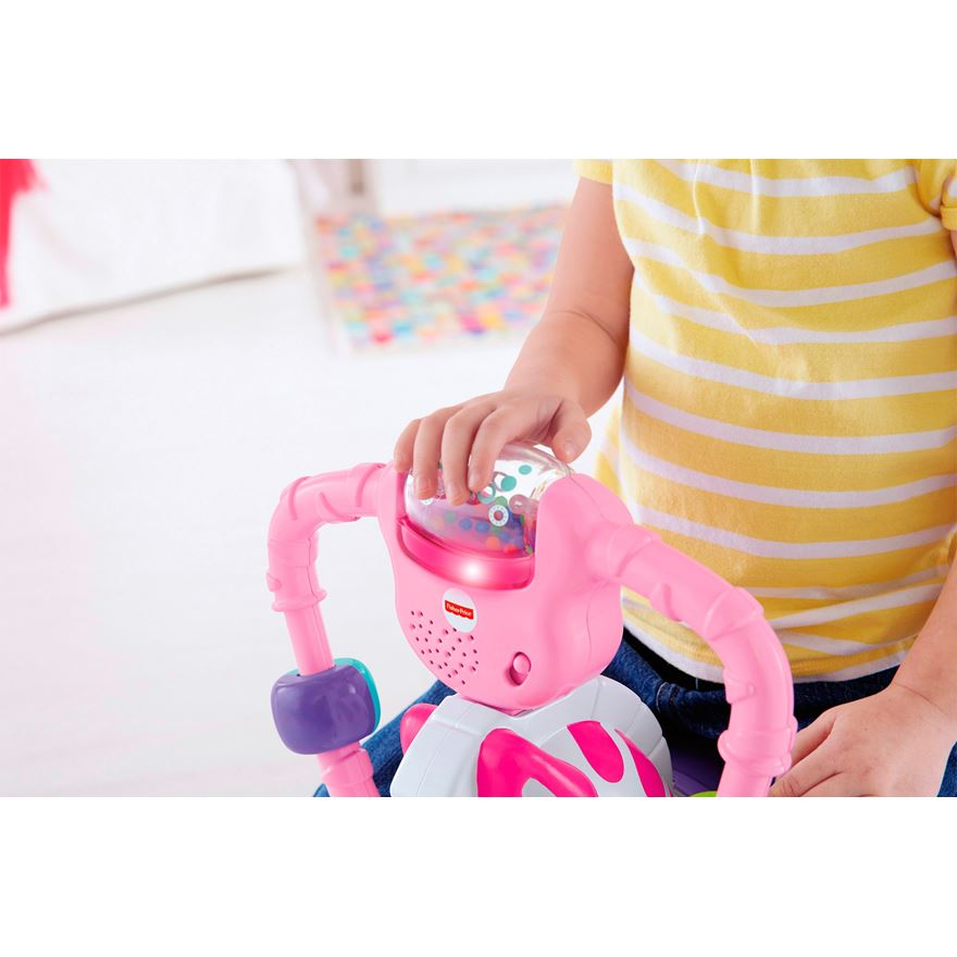 Fisher Price Bounce and Spin Zebra Pink image-2