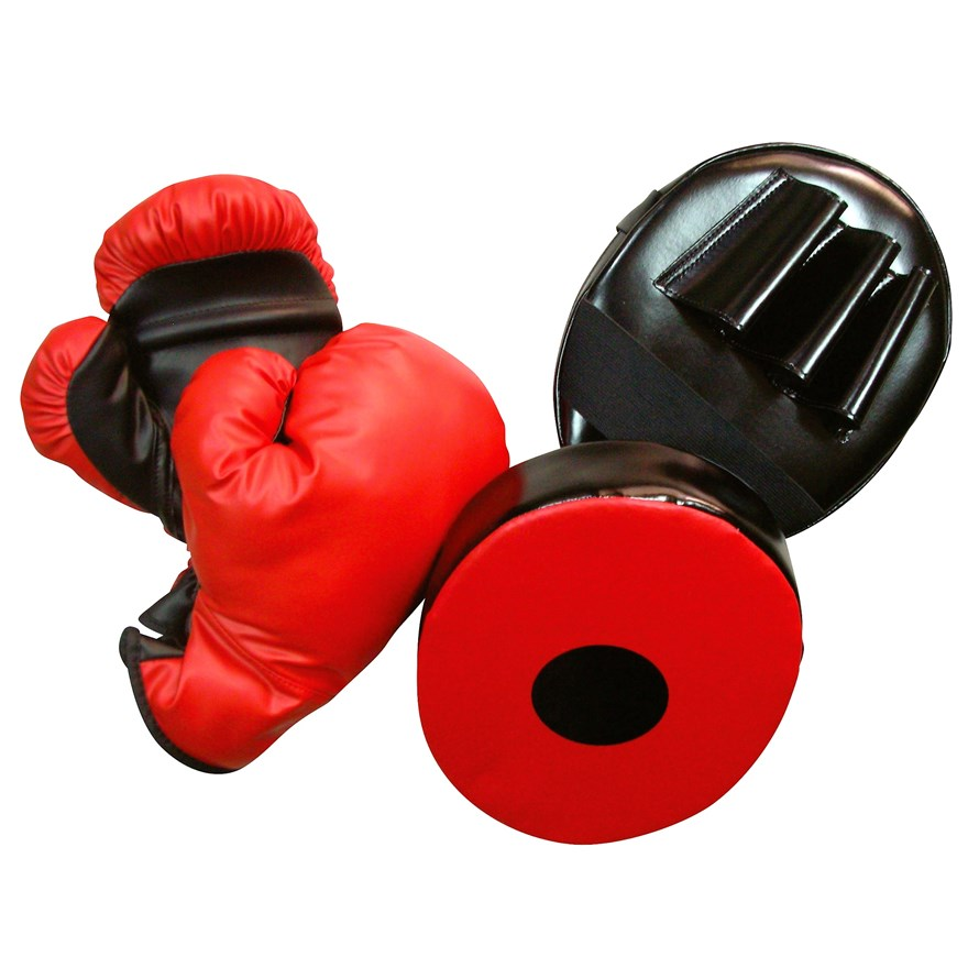 8oz Boxing Gloves and Punching Mitt