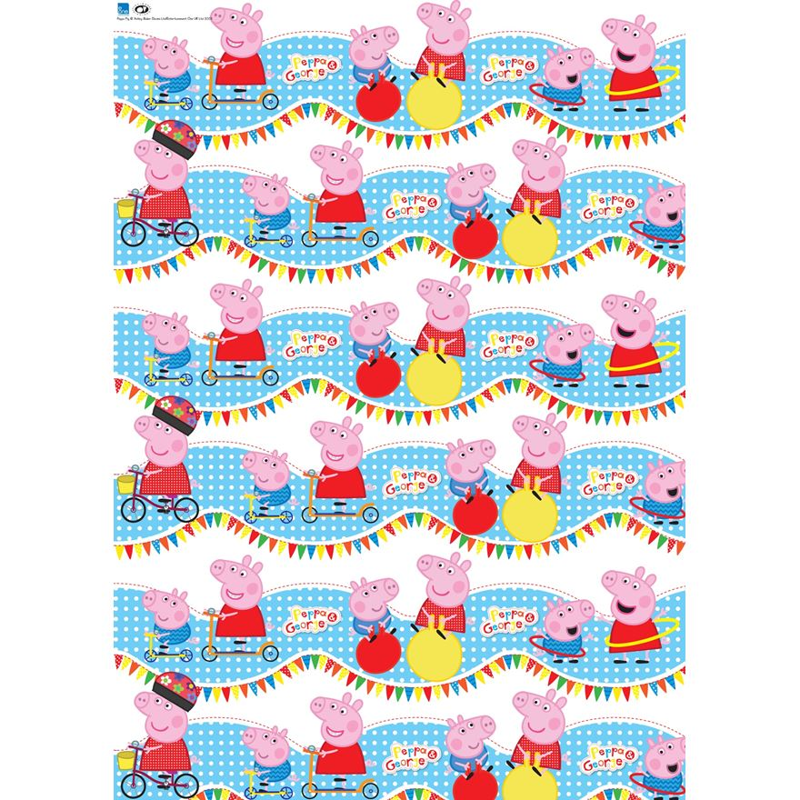 4m Peppa Pig Wrapping Paper