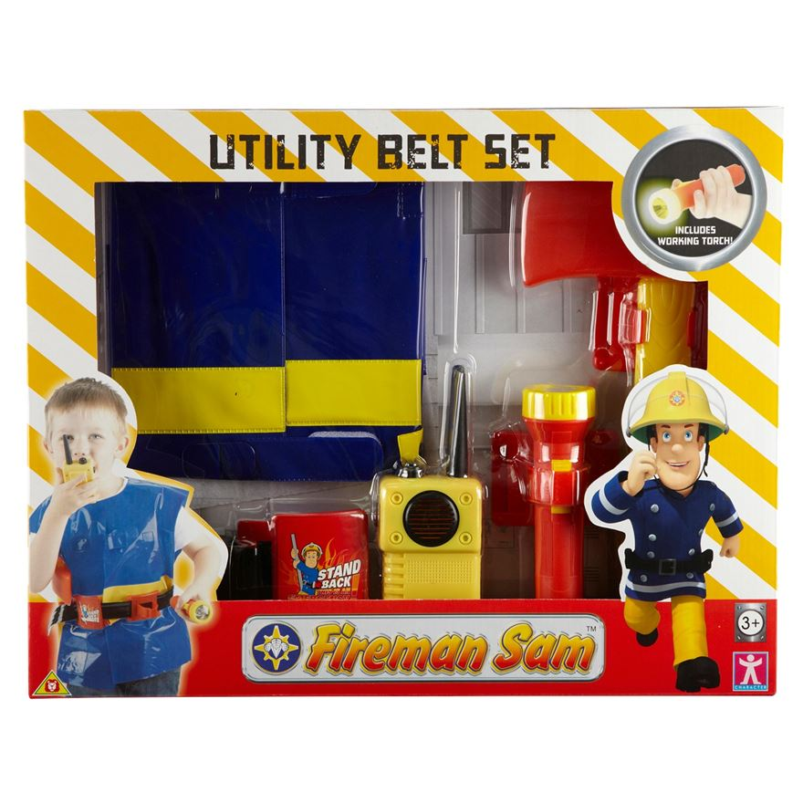 Fireman Sam Utility Belt with Jacket & Accessories image-2