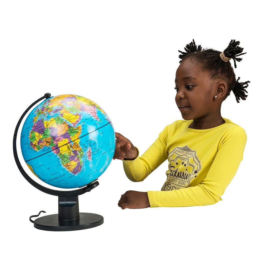 25cm Light Up Globe image-0