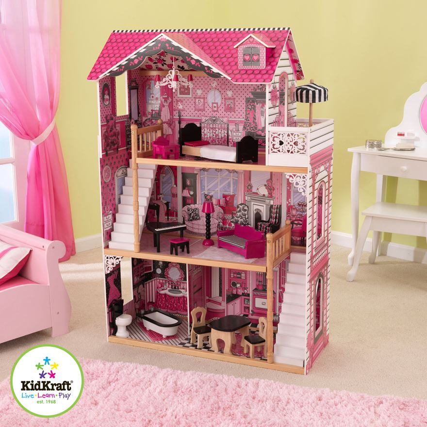 Amelia DollHouse with Furniture image-1