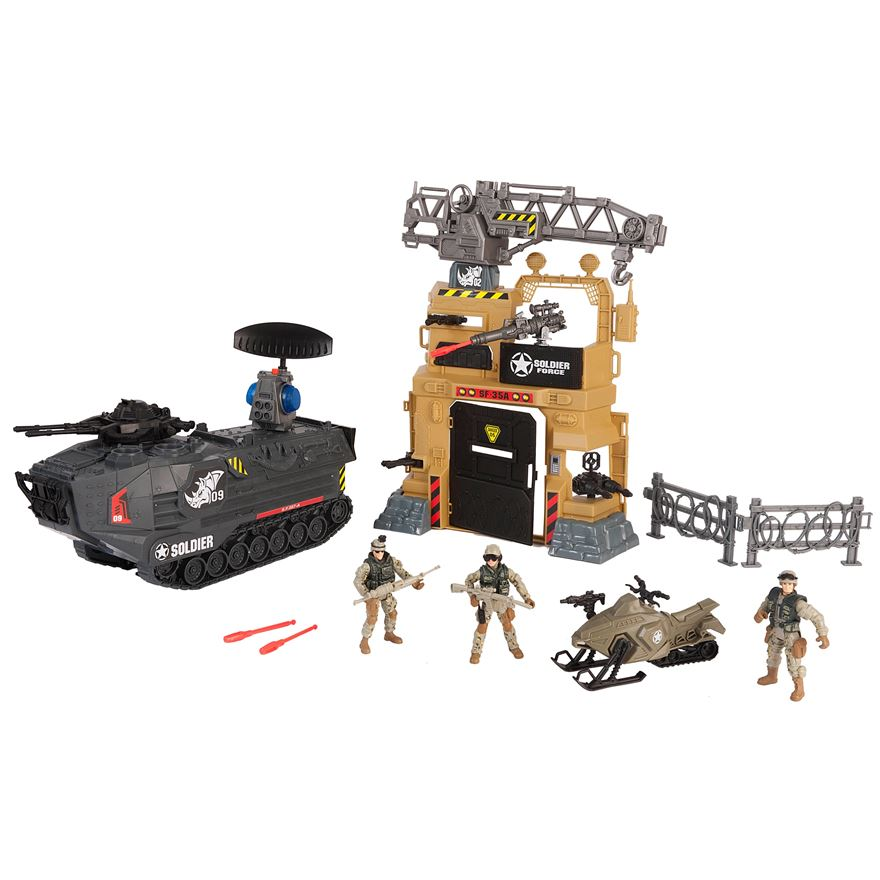 Soldier Force Steel Rhino Playset image-0