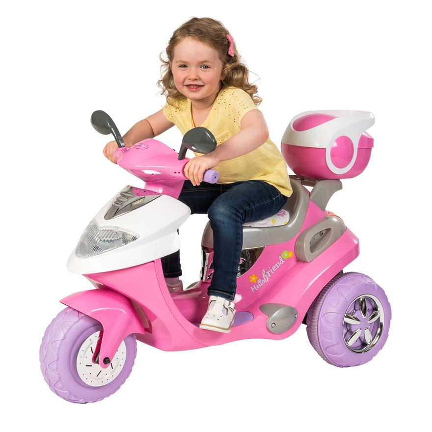 Pink Electric Scooter 6V Ride On image-0