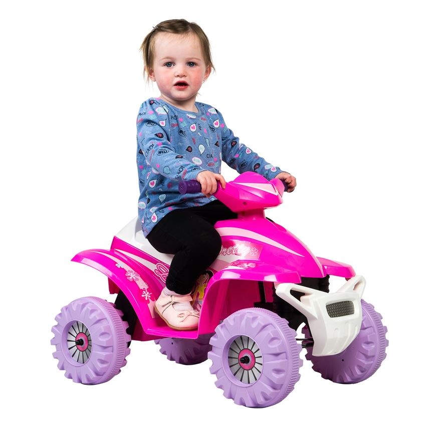 Pink Racing Quad 6V Ride On image-0