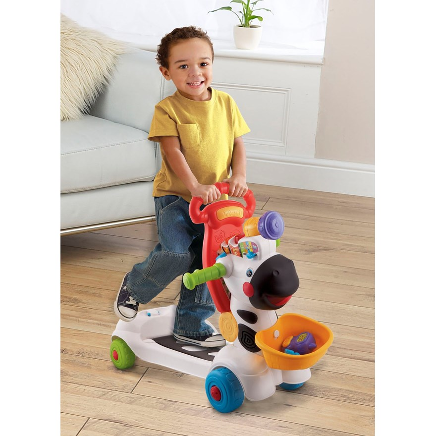 VTech Baby 3-in-1 Zebra Scooter image-0