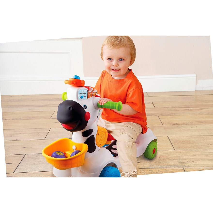 VTech Baby 3-in-1 Zebra Scooter image-1