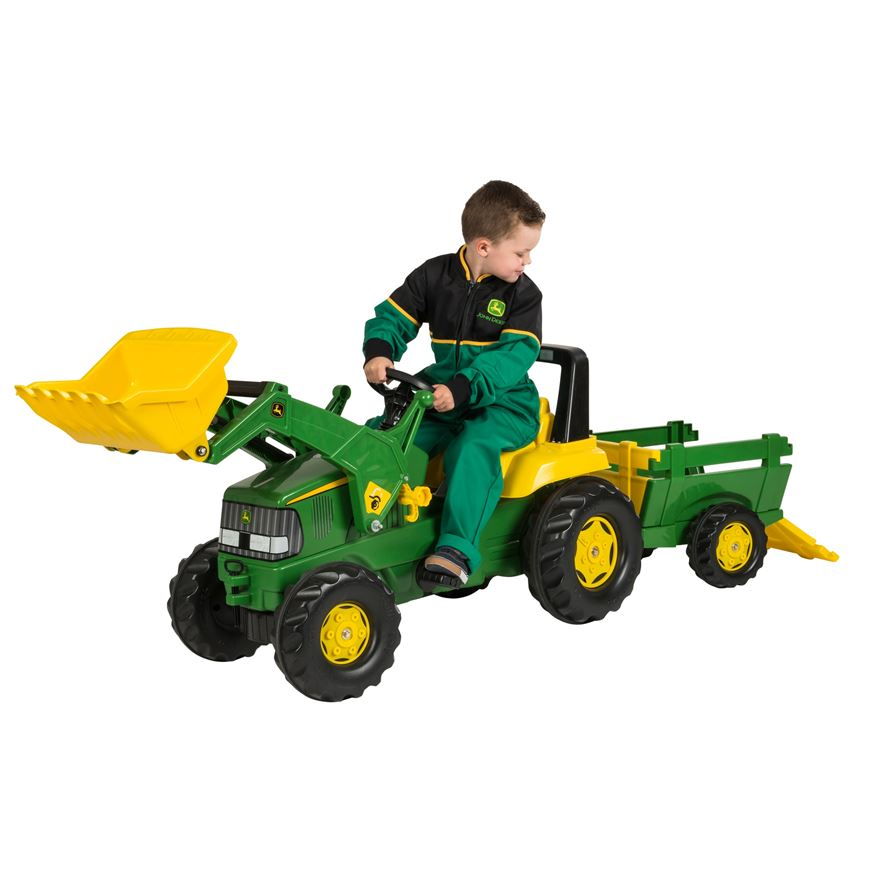 John Deere Large Tractor, Trailer and Loader image-0