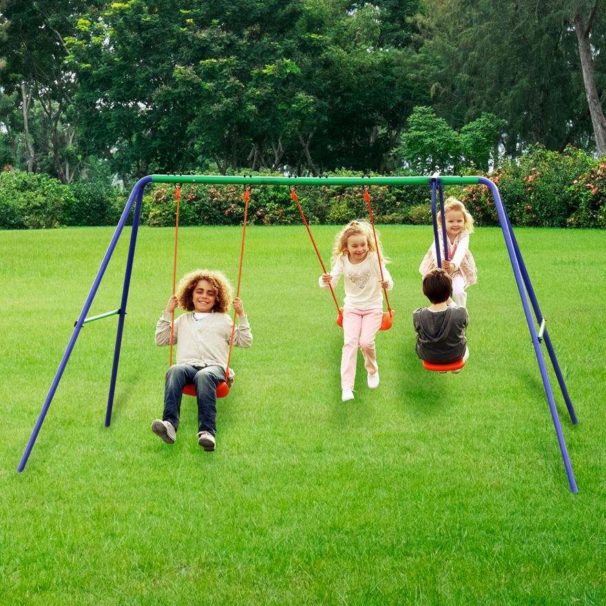 Delta Double Swing and SeeSaw Swing Set image-0