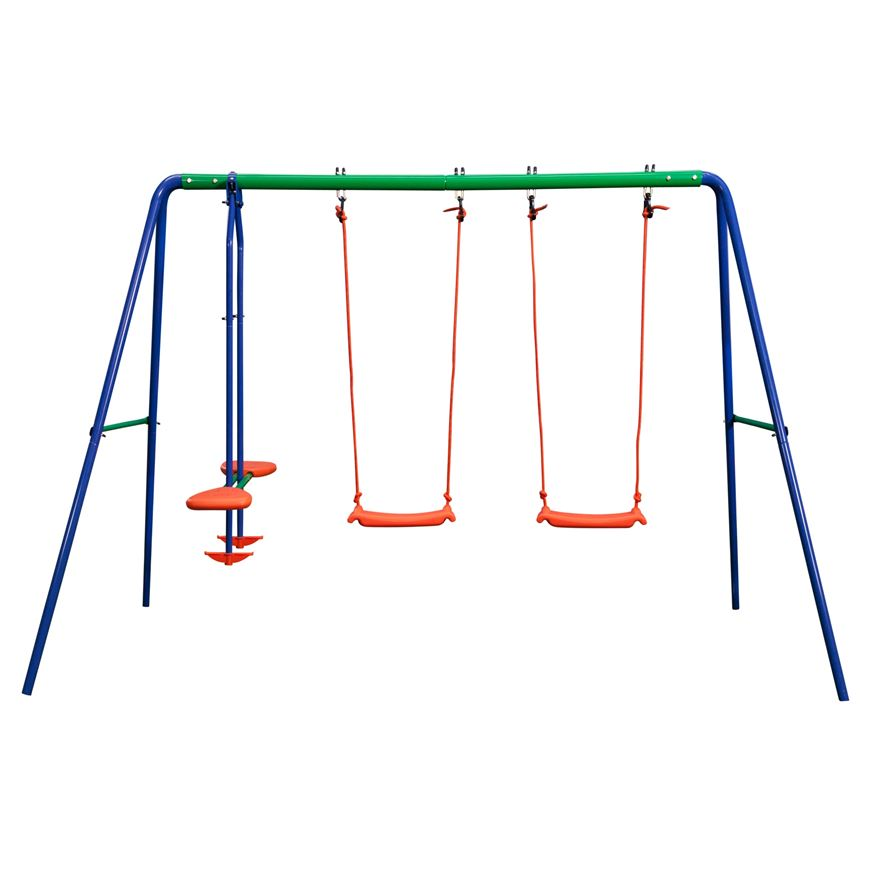 Delta Double Swing and SeeSaw Swing Set image-1