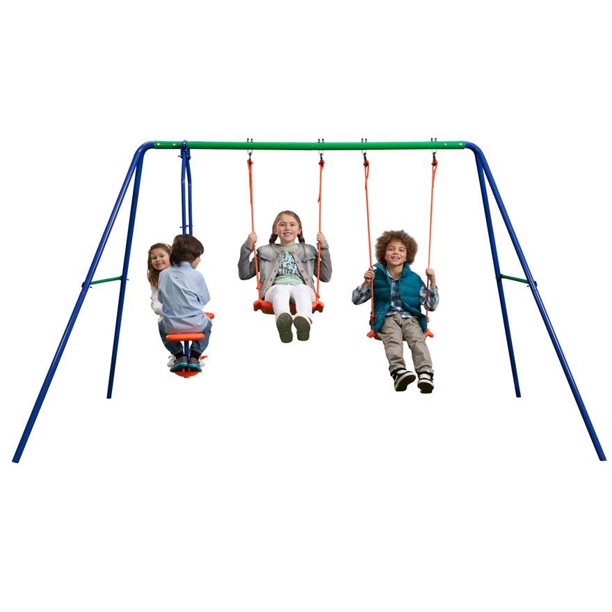 Delta Double Swing and SeeSaw Swing Set image-2