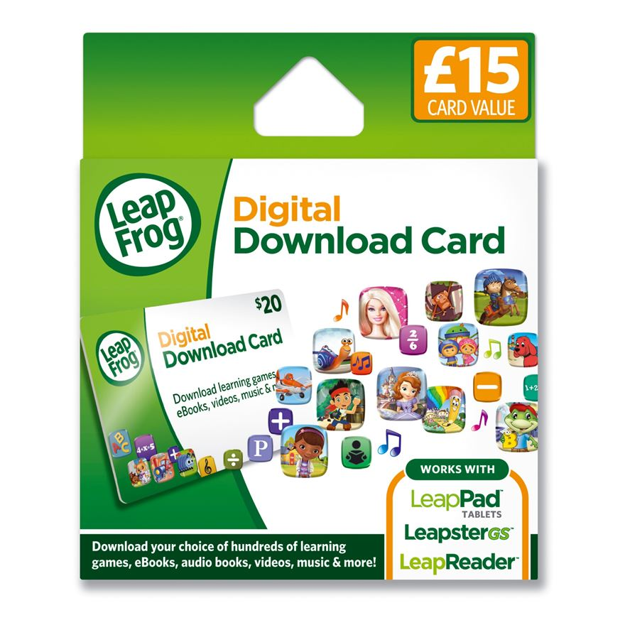 LeapPad & Leapster Explorer App Download Card £