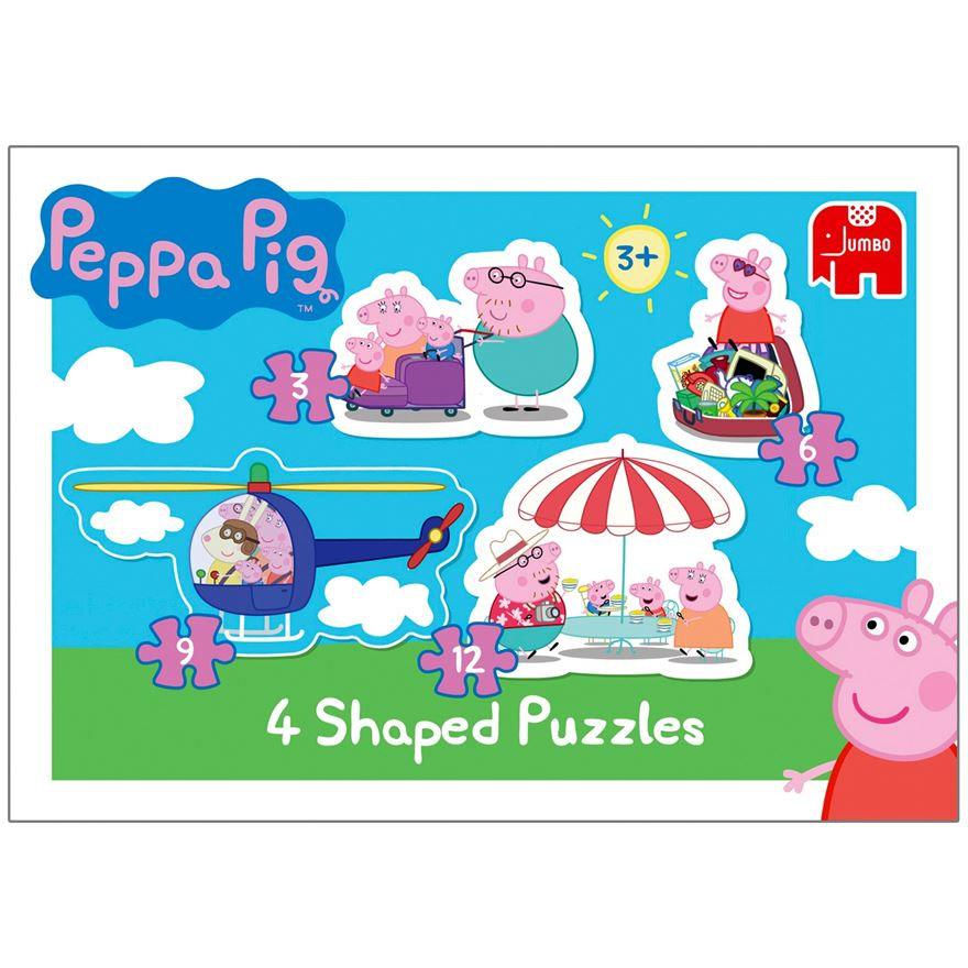 Peppa Pig 4 in 1 Shaped Puzzles image-0