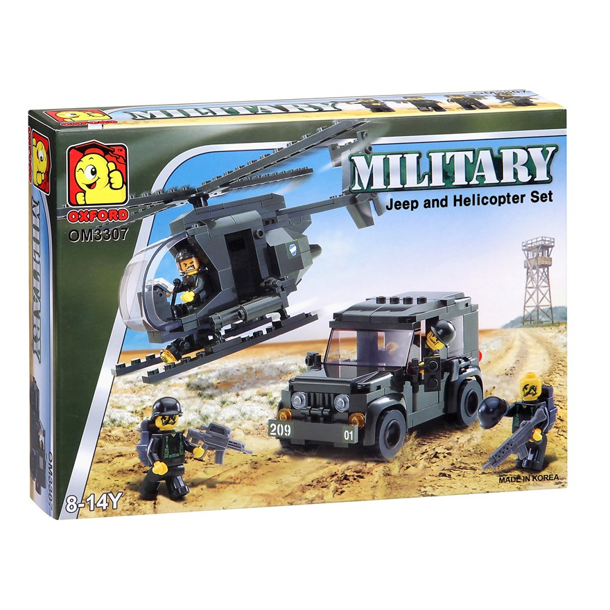 Oxford Military Jeep and Helicopter Set image-0