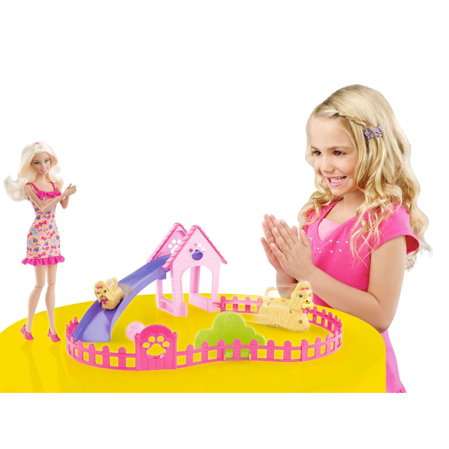 Barbie Puppy Play Park Playset image-0