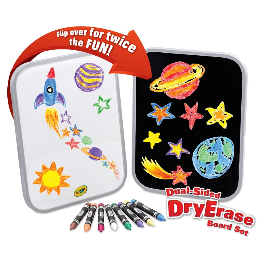 Crayola Dual-Sided Dry Erase Board Set image-0