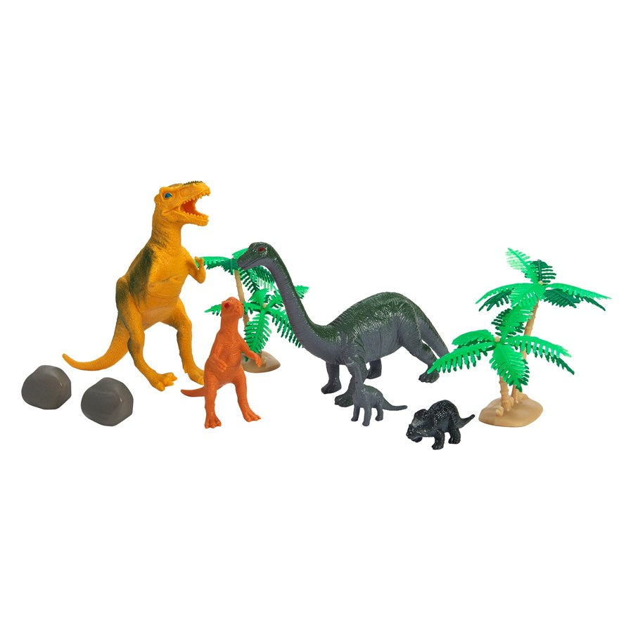 60 Piece Dinosaur Animal Playset image-0