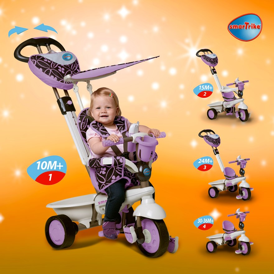 Smart Trike Dream Purple 4 in 1 image-0
