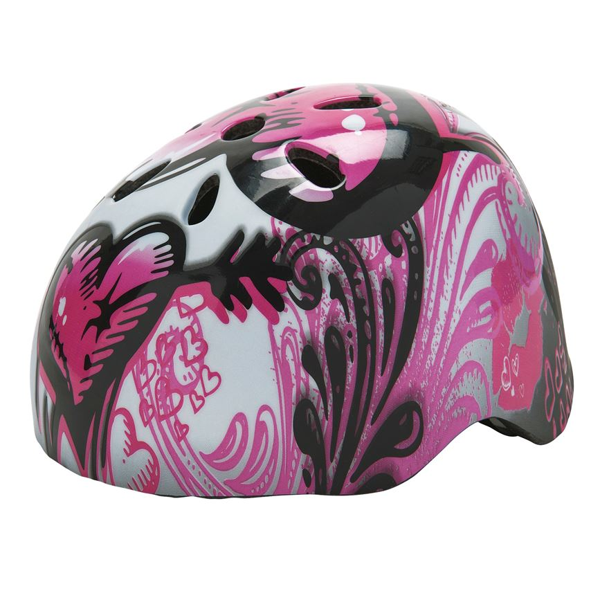 Glow-in-the-Dark Skate Helmet Pink (Size 54-60cm) image-0