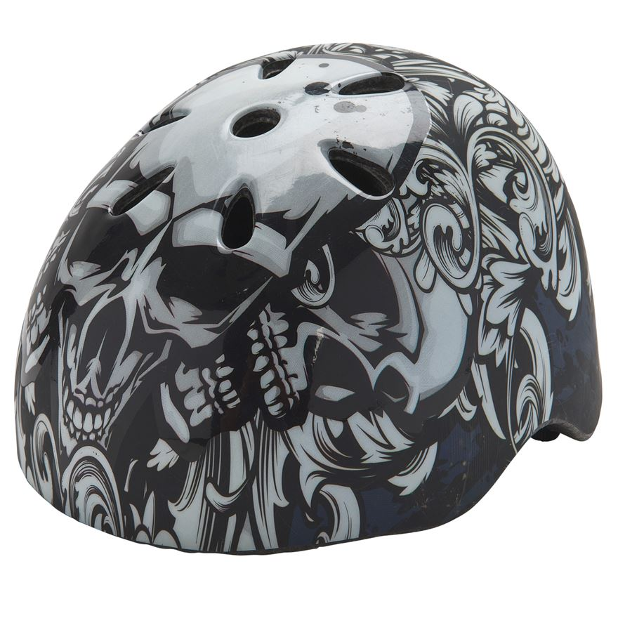 Glow-in-the-Dark Skate Helmet Black (Size 54-60cm) image-0