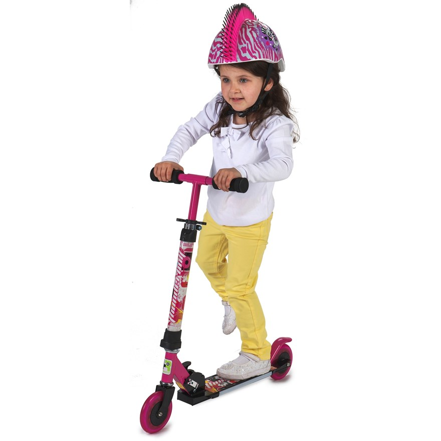 Light Up Pink Scooter image-1