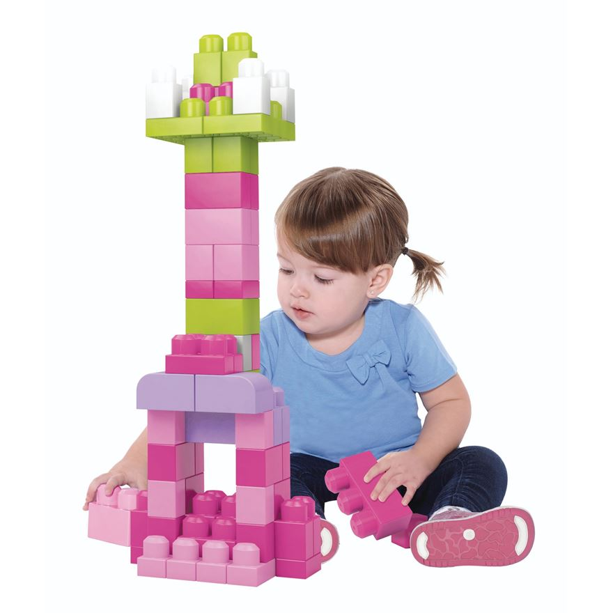 Mega Bloks First Builders Big Building Bag Pink image-0