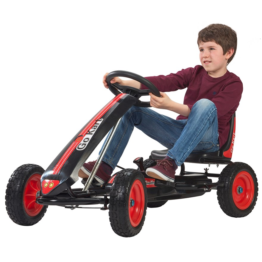 Black and Red Pedal Go Kart image-0