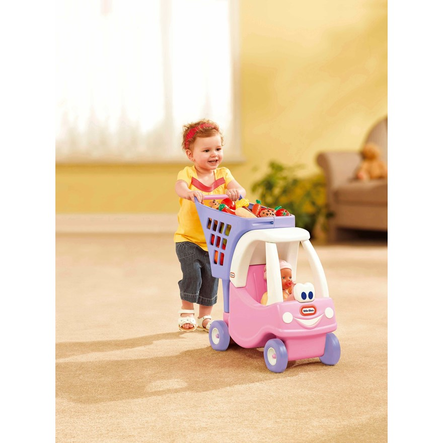Little Tikes Cozy Coupe Shopping Cart Pink image-0