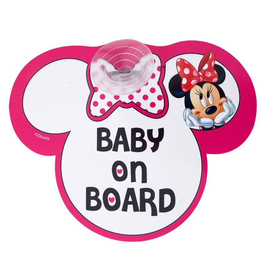 Disney Minnie Mouse Baby on Board Sign image-0