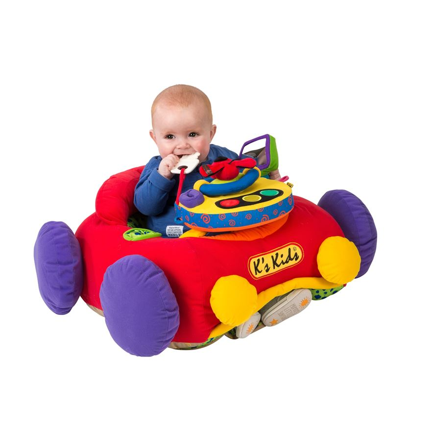K's Kids Jumbo Go Go Go Car Red image-0