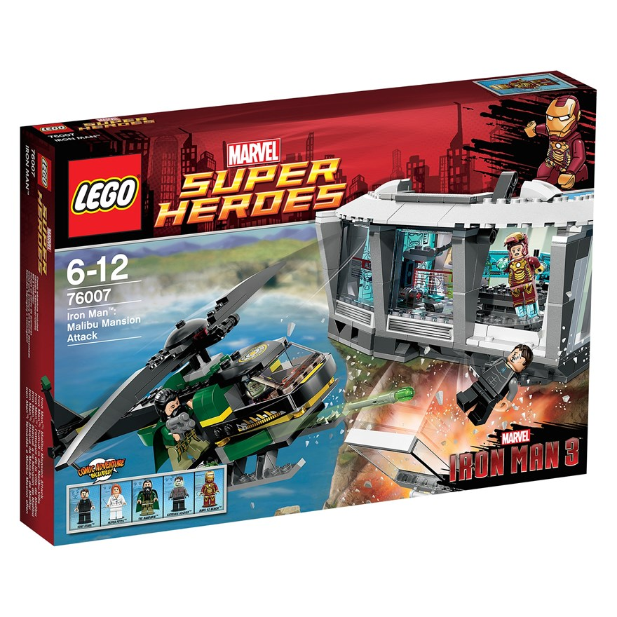 LEGO Iron Man Malibu Mansion Attack 76007 image-0
