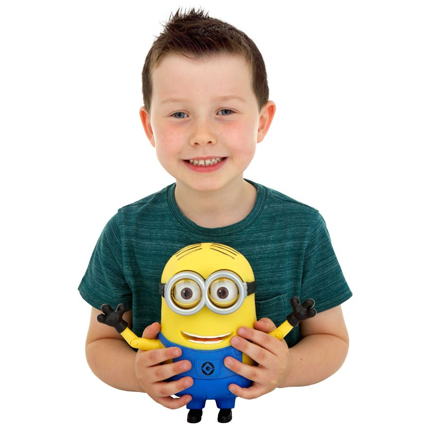 Despicable Me 2 20cm Talking Minion Dave image-0