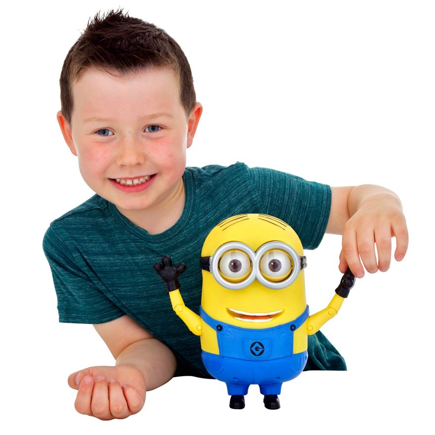 Despicable Me 2 20cm Talking Minion Dave image-1
