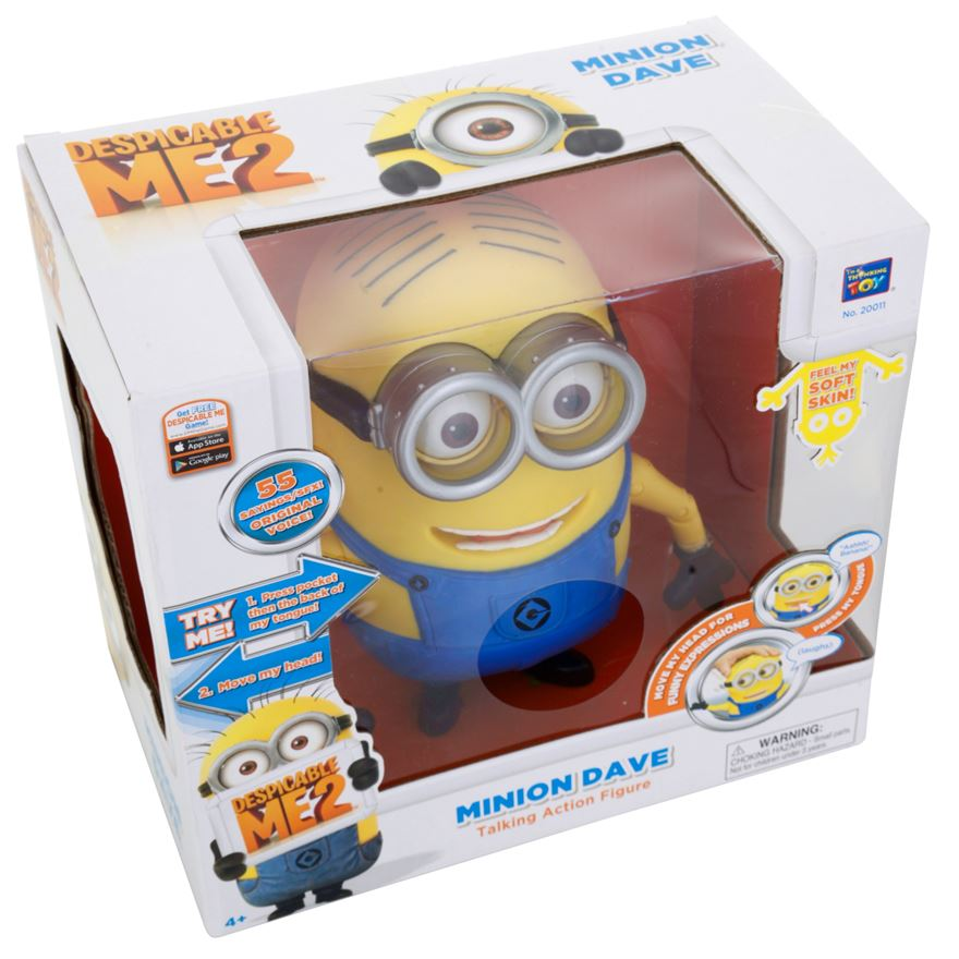 Despicable Me 2 20cm Talking Minion Dave image-6