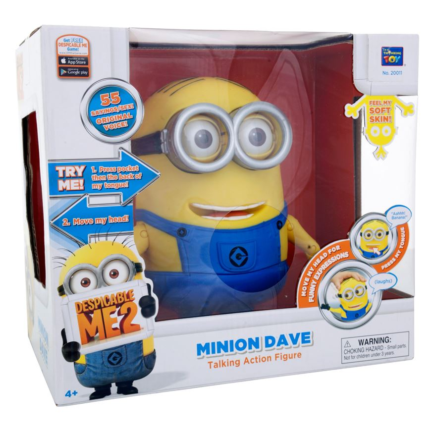 Despicable Me 2 20cm Talking Minion Dave image-7
